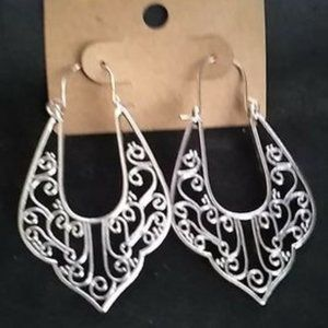 Sterling Silver Boho Earrings J-839